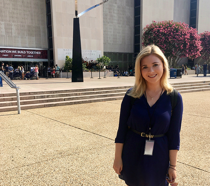 Sarah Goldberg '18 is no stranger to interning. During her time as curatorial intern at the National Museum of American History, she was able to explore the field and affirm her post-Dickinson plans.