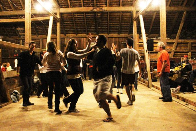 Contra Dancing at Harvest Fest - Photo by Carl Sander Socolow '77