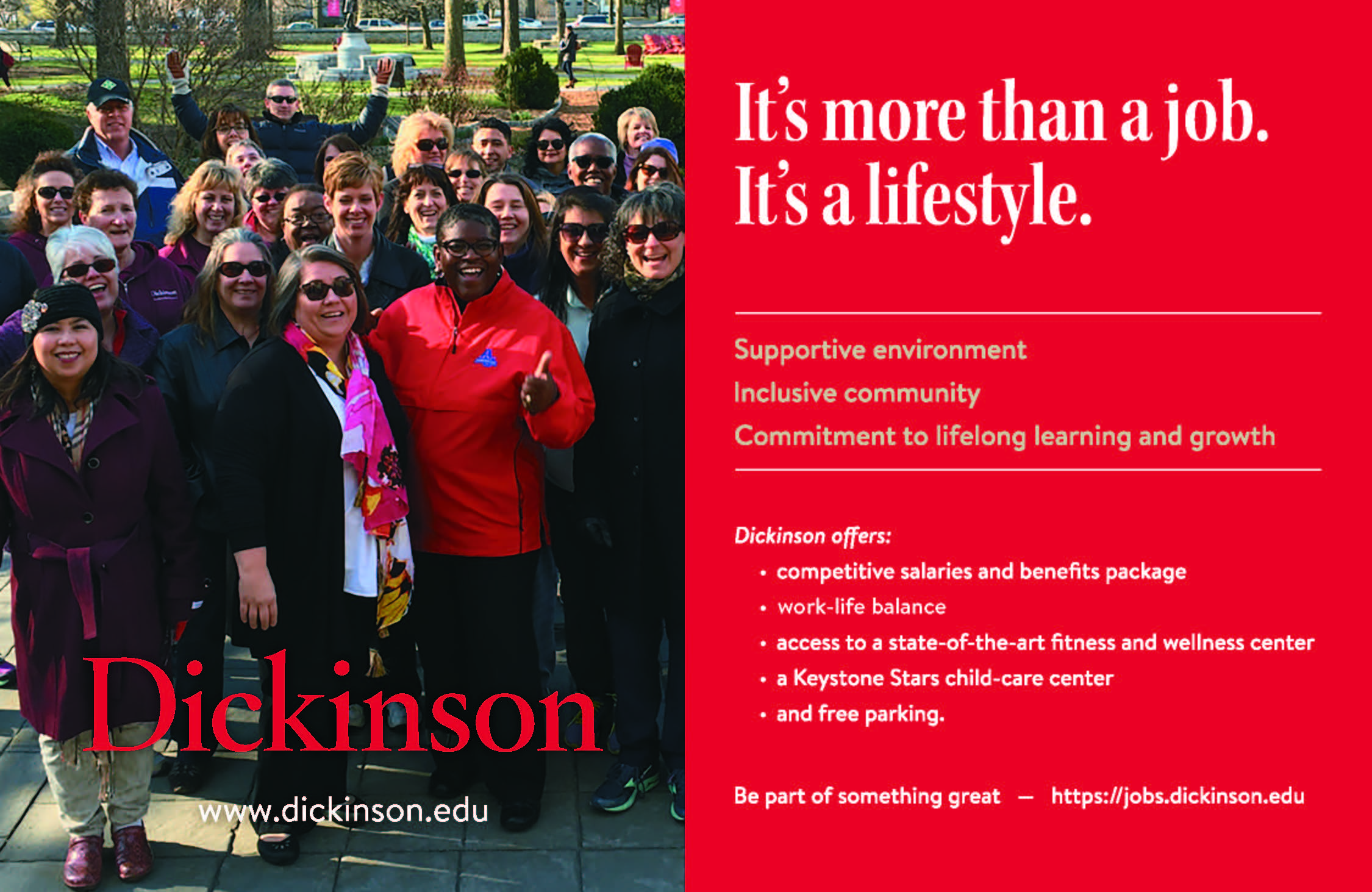 jobs at dickinson college