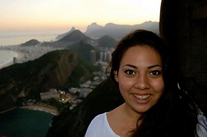 Janel Pineda '18 in Brazil.