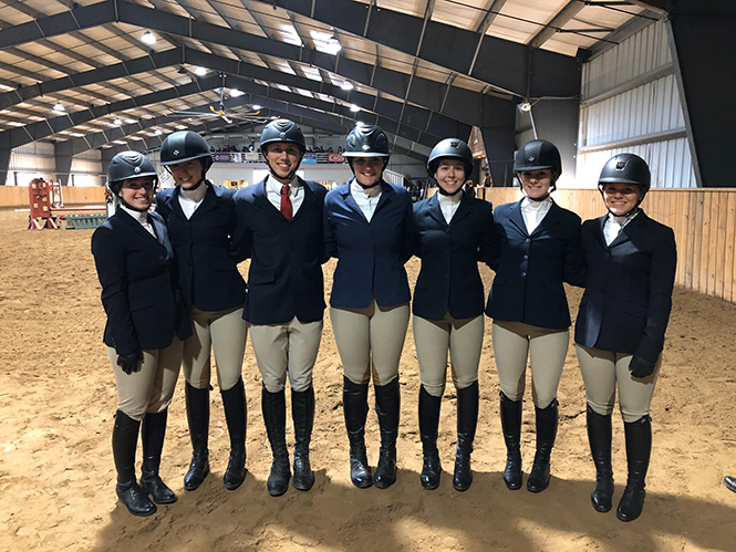 The Dickinson College Equestrian Team competed at the Tournament of Champions, where they represented Dickinson among a number of nationally recognized teams.