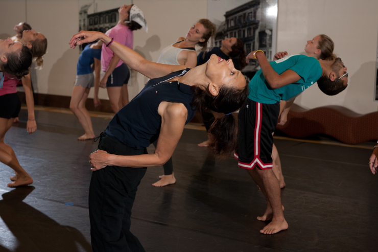 Students in a dance class.
