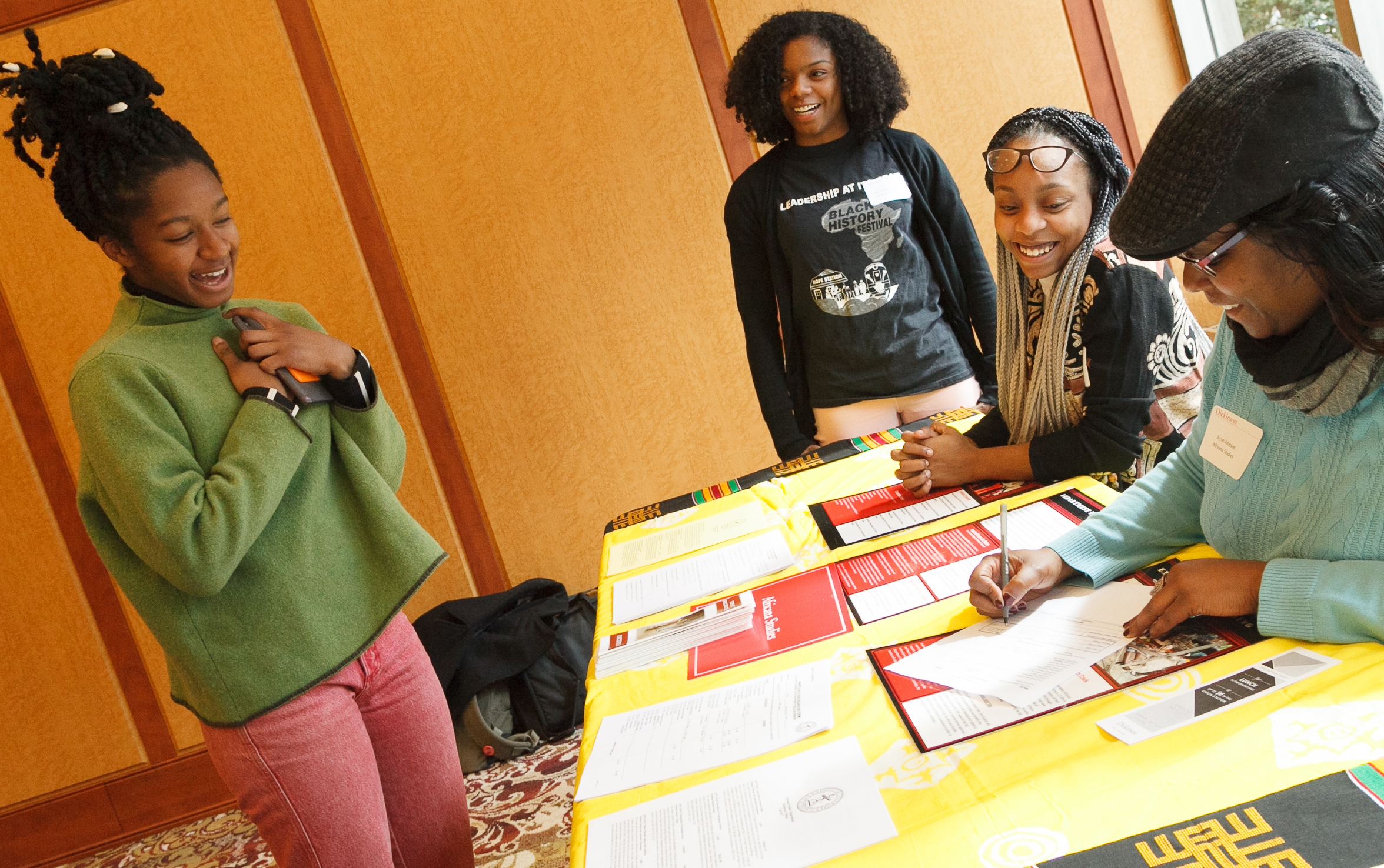 Students in the Africana Studies program
