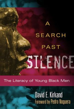 Africana Studies Africa's A Search Past Silence: The literacy of Young Black Men event poster hosted Monday, November 11, 2013 in the Stern Great Room at 7:00pm featuring speaker David E, Kirkland.