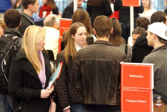 Questions are answered at the Academic Open House.