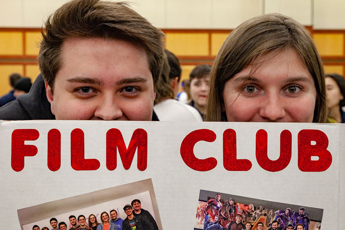 Dickinson's Film Club was one of the many clubs and student activities featured at Activities Night.