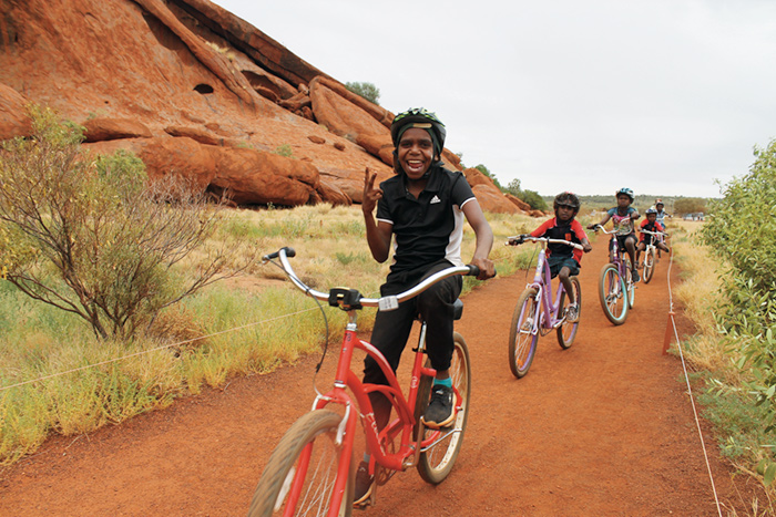 "Culture, Local Life and Local People ""Aboriginal students commuting to school,"" Uluru, Australia, by Marguerite Adams '18"