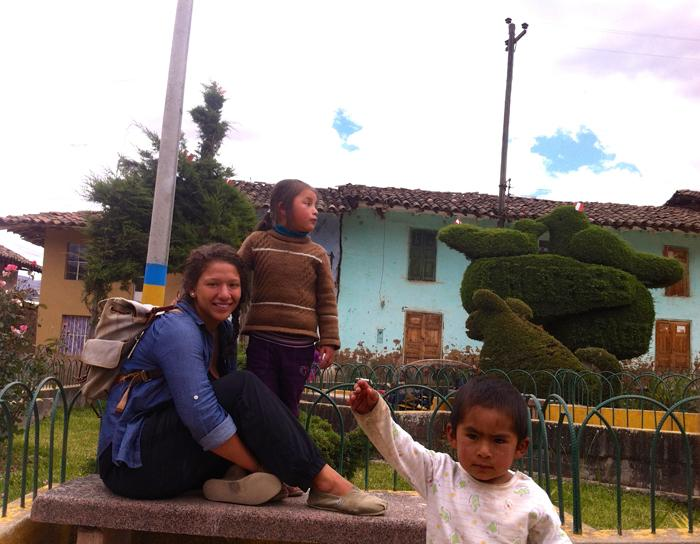 Alexandra Kaye volunteers for the Peace Corps in Peru.