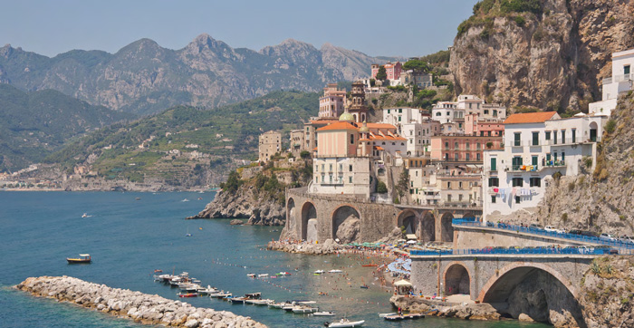 On the Amalfi Coast, you have time to explore the city before venturing into the mountains for a hike. © Paolo Costa Baldi