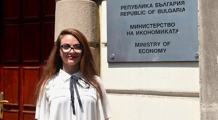 Rising sophomore Ana-Elena Karlova '21 is an intern in the Department of Europe at the Ministry of Economy of the Republic of Bulgaria.