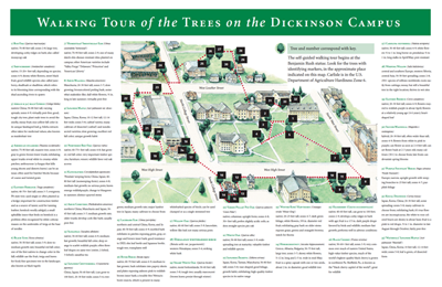 a map of the Dickinson College arbor walk map