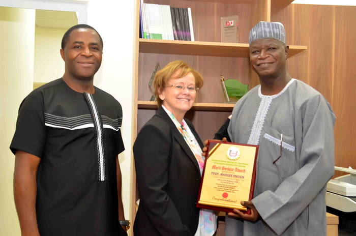 Ensign accepts award recognizing AUN as having one of the best digitally based universities on the continent.