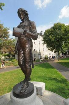 Photograph of the Benjamin Rush statue