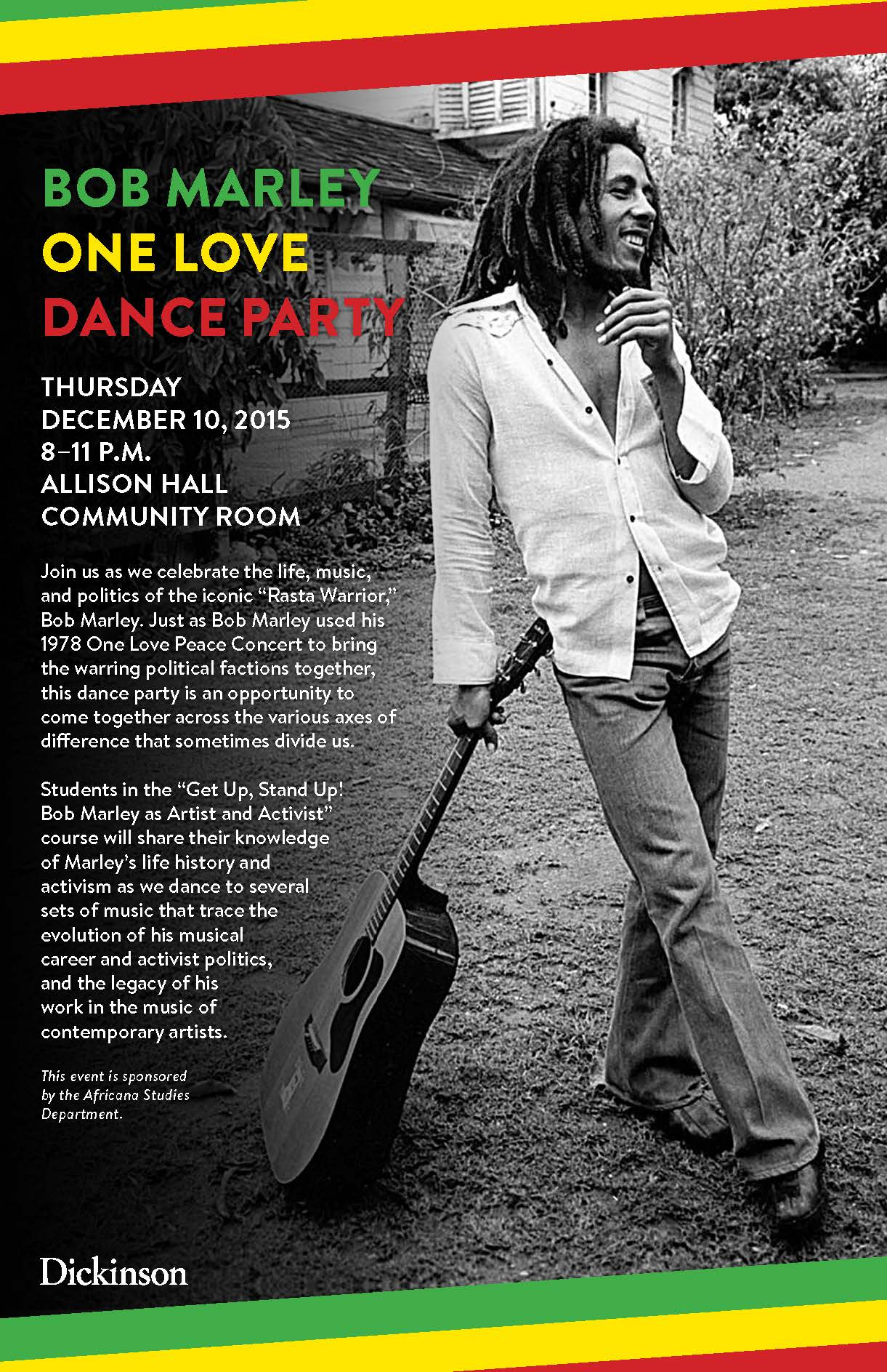 Bob Marley One Love Party Poster