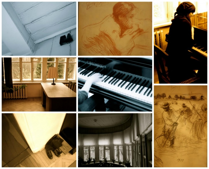 Various photos inside Boris Pasternak's house taken by Pat Kearns'11.