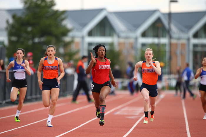 Aphnie germain '17 takes flight on the track but finds her grounding in research and with friends. Photo by Chris Knight.