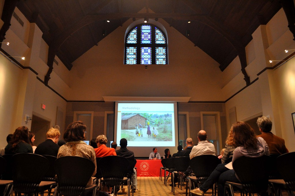 The annual Research Symposium held in the Stern Great Room.