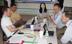 Group of Dickinson and Akita University faculty working group