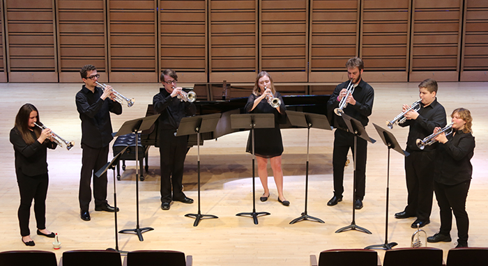 chamber music in the Rubendall Recital Hall.