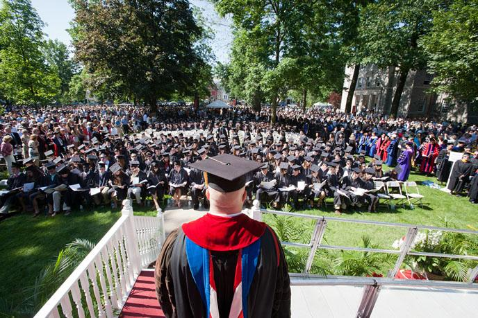 Photograph from Commencement 2012