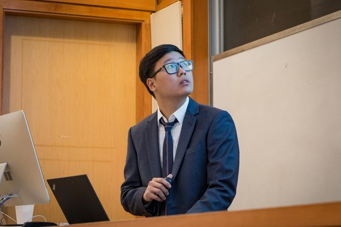 Daniel Ngo gives a computer science honors talk