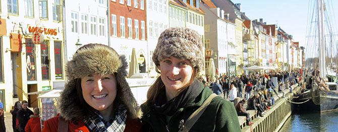Sara Moss and Emily Rogers in Copenhagen