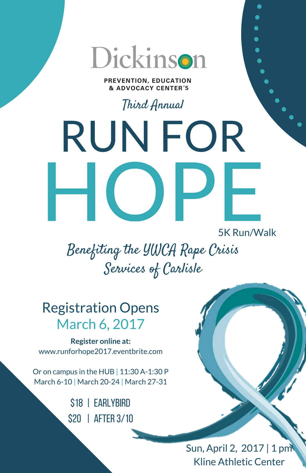 poster with details for run for hope event
