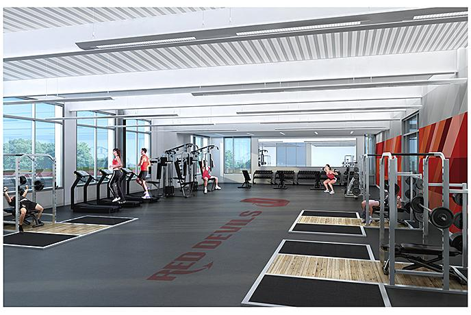 Architectural Rendering of Strength Training Area