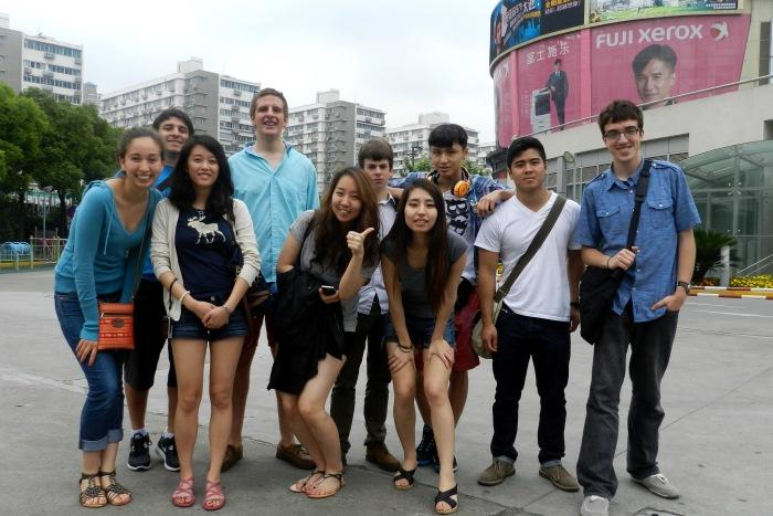 students explore shanghai