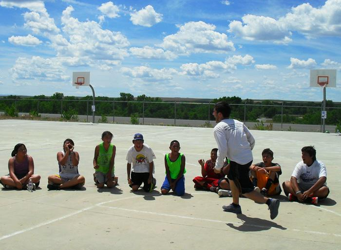 David Dean works with youth as a part of Unity Hoops