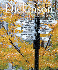Dickinson winter 2019 magazine cover