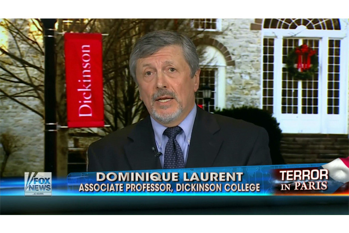 Donimique Laurent was one of several Dickinson faculty experts to weigh in on the Paris attacks.