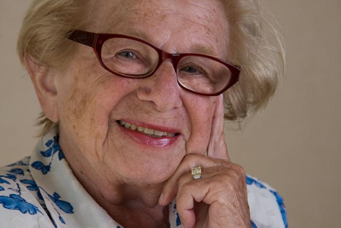 Portrait of Dr Ruth Westheimer