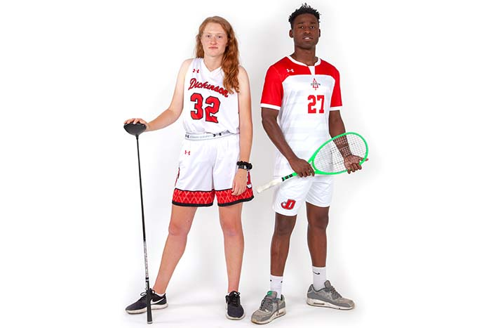Hannah Heiring '20 and Oosie Imoro '21