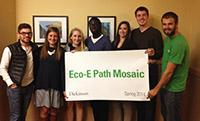 Photograph of students in the Eco-E Path Mosaic