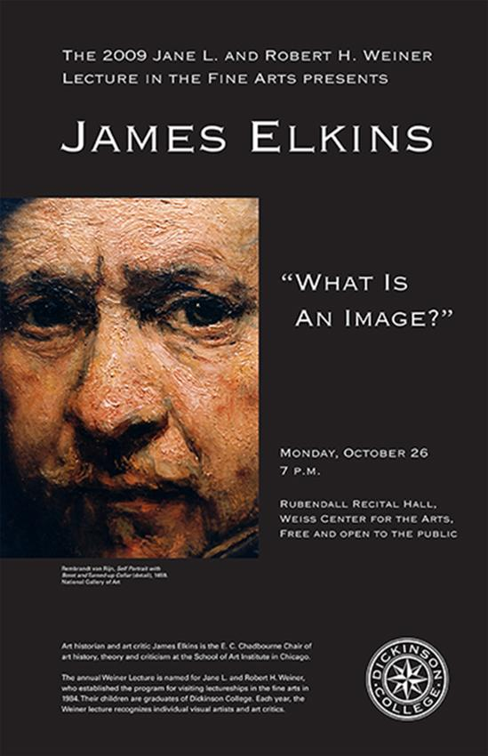 James Elkins Poster for Weiner Lecture, Fall 2009