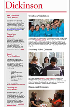 Orientation Enewsletter