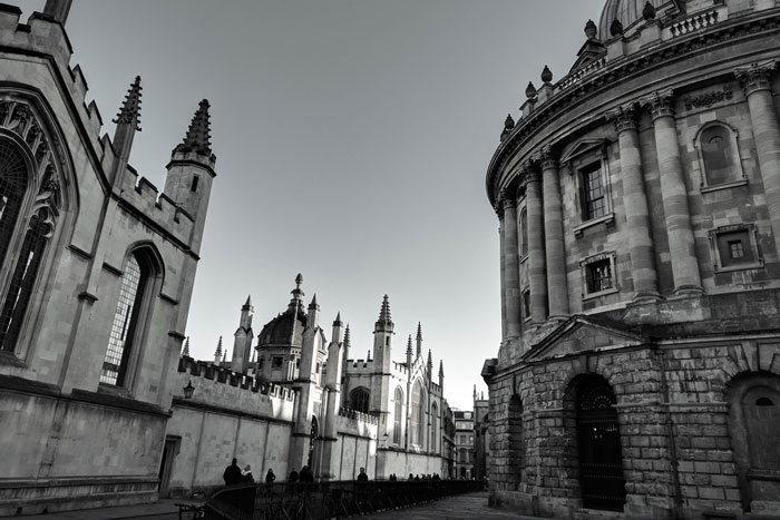the streets of Oxford England