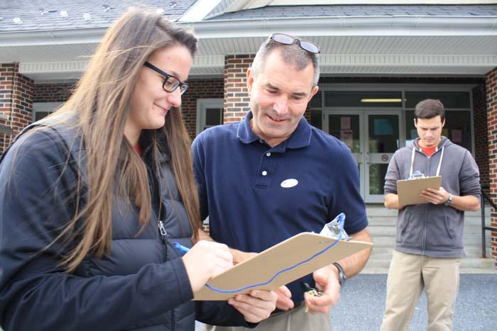 Makenzie Miller '17 shared an exit poll with a Cumberland County voter.