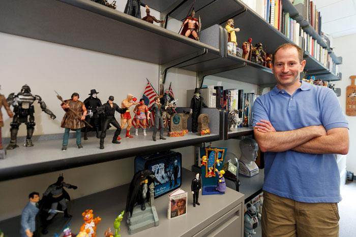 Dick Forrester and his figure collection