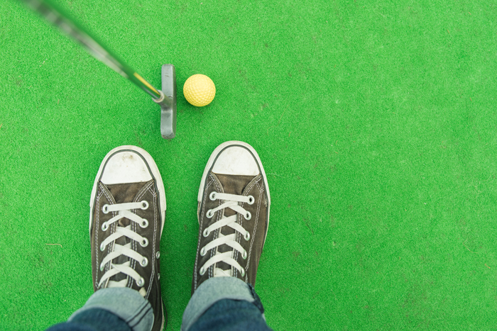 Converse and mini golf