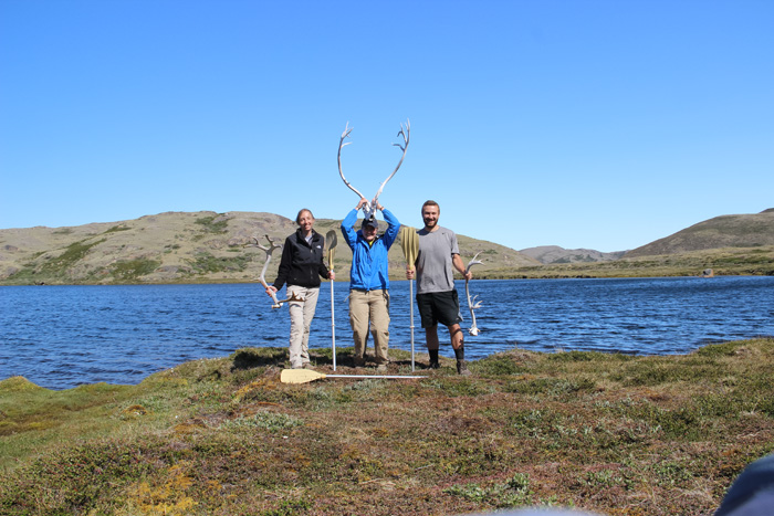 Strock, Schlimm and Max Egener enjoying all Greenland has to offer.