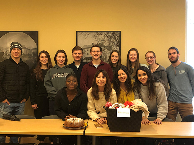 Students in Dickinson's Spanish Club held a fundraiser to help support migrant agricultural workers in the local area.