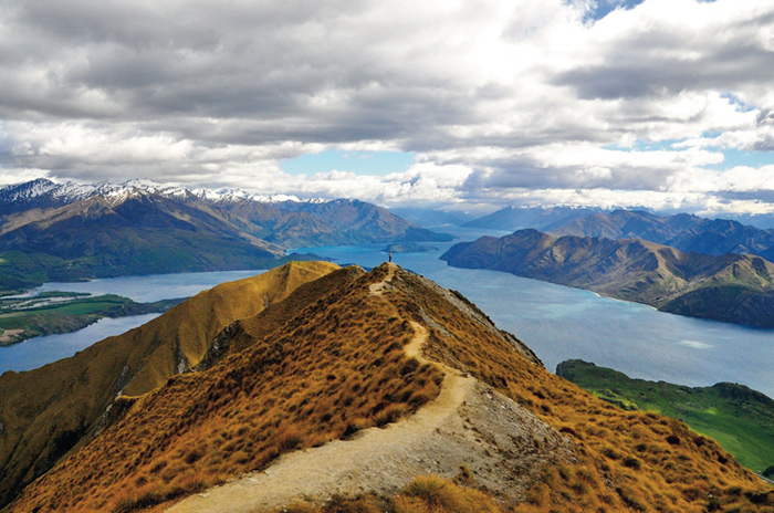 "Architecture & Landscape (WINNER) ""Edge of the World,"" Roy's Peak, New Zealand, by Jamey Harman '18"