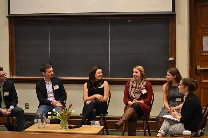 As part of the Dickinson Department of History's Alumni Forum, various alums spoke about their experiences and provided advice to current students.