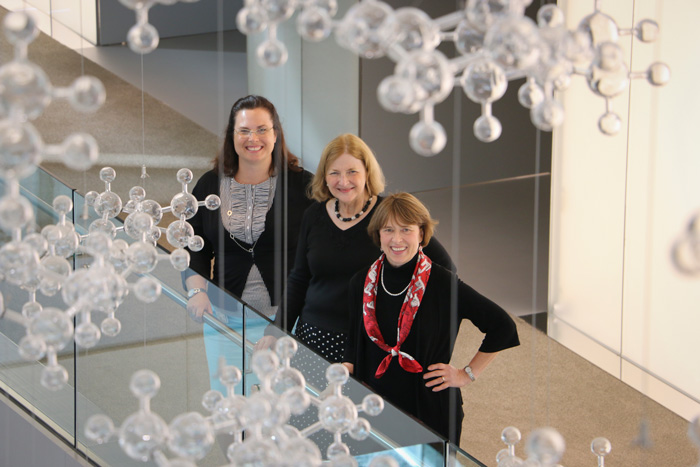 From left, Kerstin Witte Lien '97, Barbara Faulkner '74 and Suzanne Kairo '83.