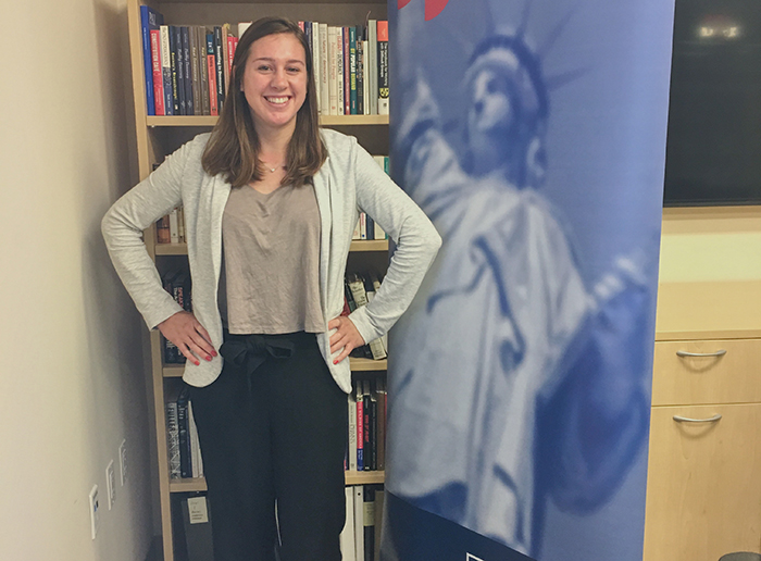 Whether she's on or off campus, Rowan Humphries '19 is constantly exploring contemporary issues. As an intern at the National Institute for Civil Discourse, she's able to turn passion into action.