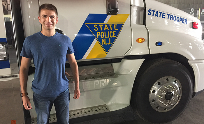 Will Held '19 is taking learnings from his computer science and mathematics courses into the real world as a summer intern with the New Jersey State Police.