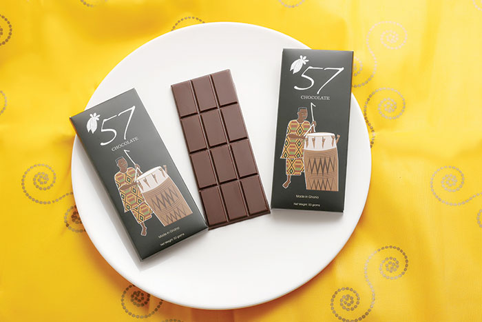 '57 Chocolate is the pioneer bean-to-bar chocolate company in Ghana, West Africa, founded in 2016