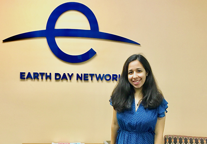 During her first internship experience, Ariel Levin-Antila '21 helps prepare Earth Day Network for its 50th anniversary campaign by preparing an effective communications plan.
